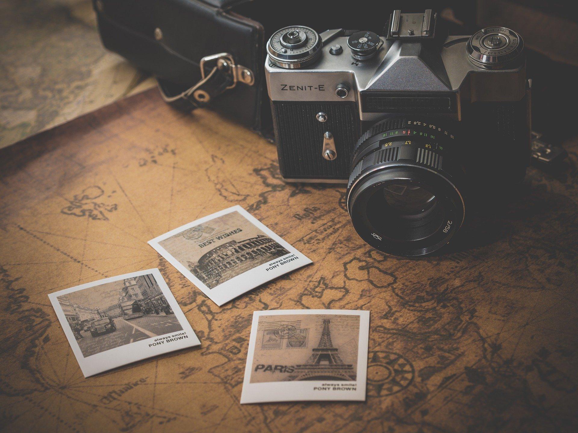 Kamera og fotos fra rejse